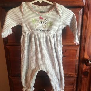 Mud Pie convertible baby gown